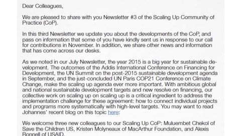 CoP Newsletter 3