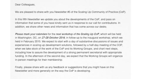 CoP Newsletter 5