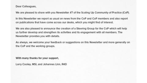 Cop Newsletter 7
