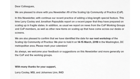 CoP Newsletter 9