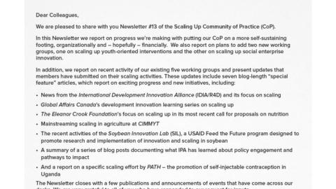 CoP Newsletter 13