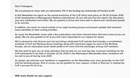 CoP Newsletter 15