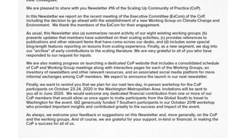 CoP Newsletter 16
