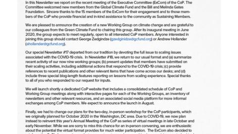CoP Newsletter 18