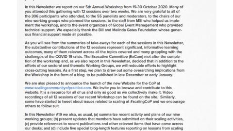 CoP Newsletter 19