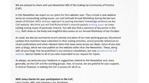 CoP Newsletter 20