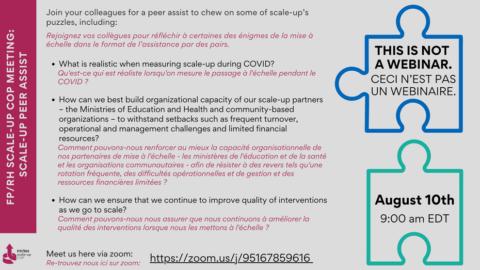 FP/RH Scale-Up CoP Meeting: Scale-Up Peer Assist